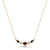 14K Yellow gold necklace with garnet and diamonds