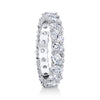 18K WHITE GOLD OVAL SHAPED DIAMOND ETERNITY RING