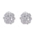 18K WHITE GOLD FLOWER DIAMOND EARRINGS