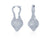18K WHITE GOLD FREE FORM DIAMOND PAVE EARRINGS