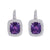 18K WHITE GOLD EARRINGS WITH DIAMONDS AND AMETHYST