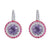 18K WHITE GOLD EARRINGS WITH DIAMONDS SAPPHIRES AND AMETHYST