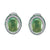 18K WHITE GOLD EARRINGS WITH DIAMONDS TSAVORITE AND PHARENITI