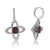 18K WHITE GOLD TOURMALINE AND DIAMOND EARRINGS