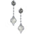 18K WHITE GOLD SOUTH SEA PEARL AND DIAMOND DROP EARRINGS