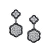 18K WHITE GOLD BLACK AND WHITE DIAMOND EARRINGS