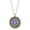 18K ROSE GOLD NECKLACE WITH DIAMONDS AND AMETHYST