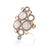 18K ROSE GOLD FASHION GEOMETRIC DIAMOND AND QUARTZ RING