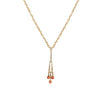 18K ROSE GOLD CHANDELIER DIAMOND NECKLACE WITH CORRALS