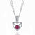 18K DIAMOND AND RUBY HEART NECKLACE