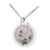 18K TWO TONE DIAMOND NECKLACE WITH TSAVORITE ROSE QUARTZ AND WHITE AGATE