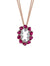 18K DIAMOND AND RUBY NECKLACE