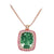 18K ROSE GOLD PENDANT NECKLACE WITH DIAMONDS SAPPHIRE AND AMETHYST