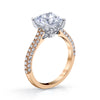 18K ROSE GOLD PAVE CUSHION ENGAGEMENT RING