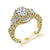 18K YELLOW GOLD HALO DIAMOND ENGAGEMENT RING