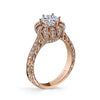 18K ROSE GOLD SIGNATURE CROWN DIAMOND ENGAGEMENT RING