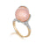 18K ROSE GOLD RING WITH DIAMONDS AND ROSE QUARTZ