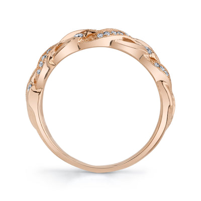 14K ROSE GOLD FASHION DIAMOND RING