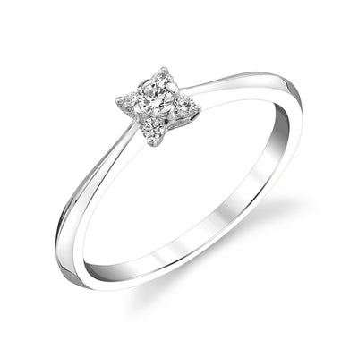 14K WHITE GOLD SOLITAIRE DIAMOND ENGAGEMENT RING