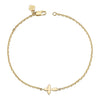 14K YELLOW GOLD KIDS CROSS BRACELET