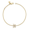 14K YELLOW GOLD KIDS BUTTERFLY BRACELET