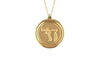 14K YELLOW GOLD 15MM ROUND CHAI MEDAL