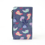 Axolotl Wallet with Zipper Compartment