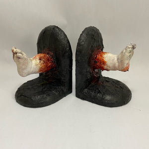 Baby Feet OOAK Bookends by Amy's Abominations