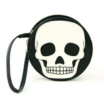 Glow-In-The-Dark Round Skull Wristlet