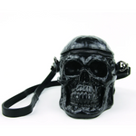 Life-Size Vinyl Skull Purse - Black