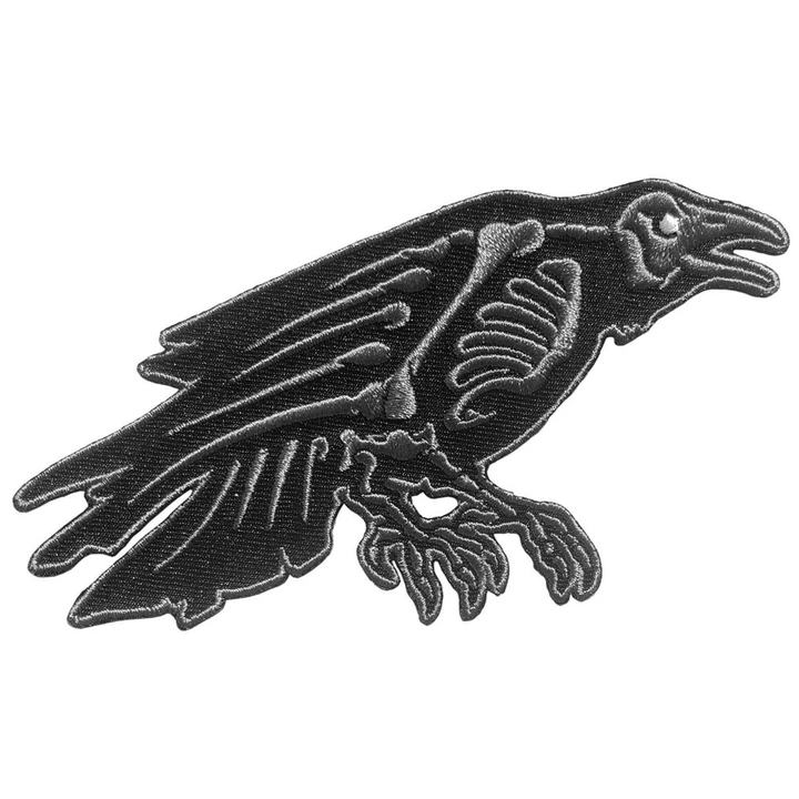 Skeleton Raven Patch