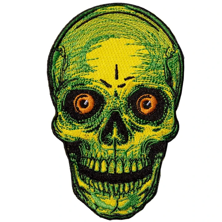 Large Staring Skull Patch