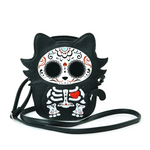 Sugar Skull Skeleton Cat Crossbody