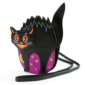 Vintage Black Scaredy Cat Bag