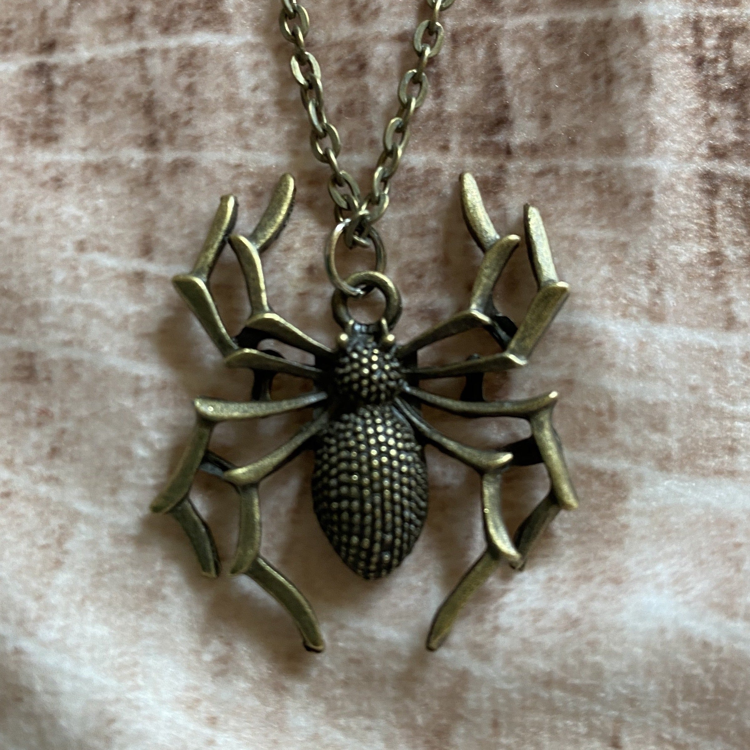 Textured Spider Necklace