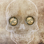 Round Ouija Stud Earrings