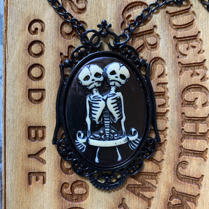 Oddities Conjoined Twins Cameo Necklace