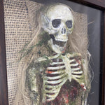 Mermaid Skeleton in Shadowbox OOAK