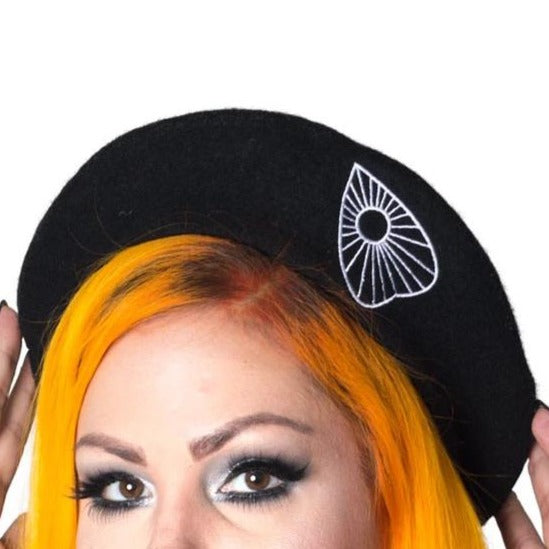 Ouija Black Beret Hat