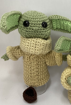 Baby Yoda Inspired Crochet Doll or Puppet