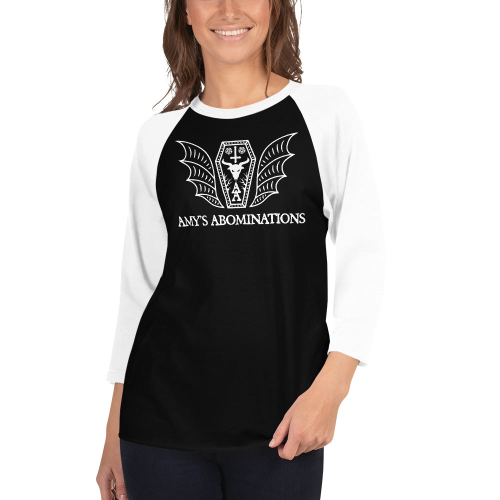 Amy's Abomination 3/4 sleeve raglan shirt