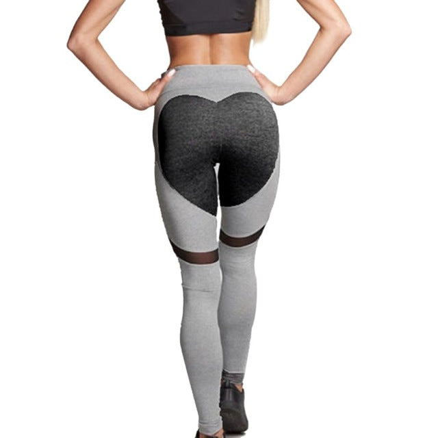 29692a818d5428 1 Heart shape Yoga Pants Women Fitness Sexy Hips Push Up Leggings Breathable  Running Tights Leggins Athletic Workout Sportswear
