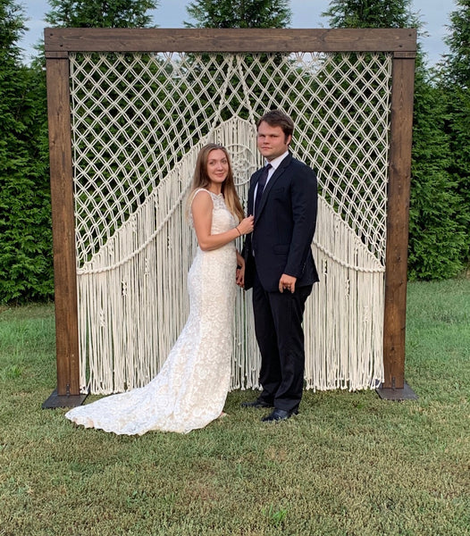 Macramé Wedding Backdrop with Arch