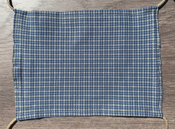 Facemask - Blue&Olive Plaid