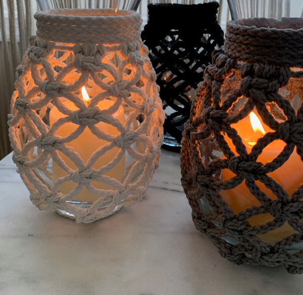 Macramé Candle Holder or Vase