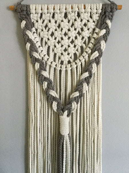 3D Wall Hanging in Natural and Smoke Gray