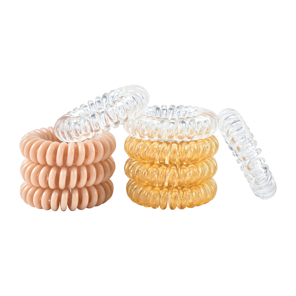 Thick Blonde Spiral Hair Ties