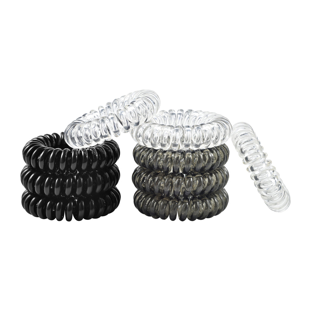 Thick Black Spiral Hair Ties