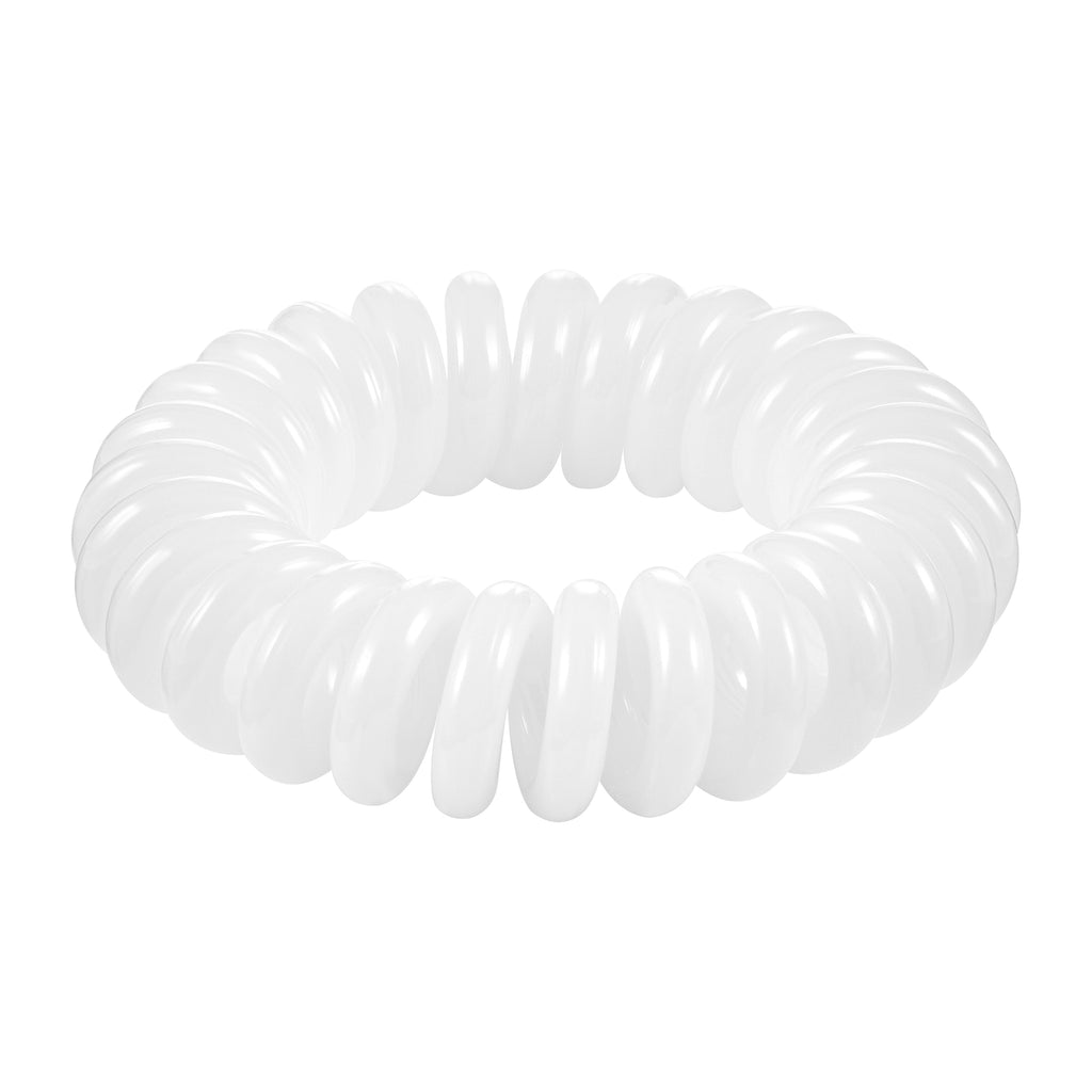 Active White Spiral Hair Tie