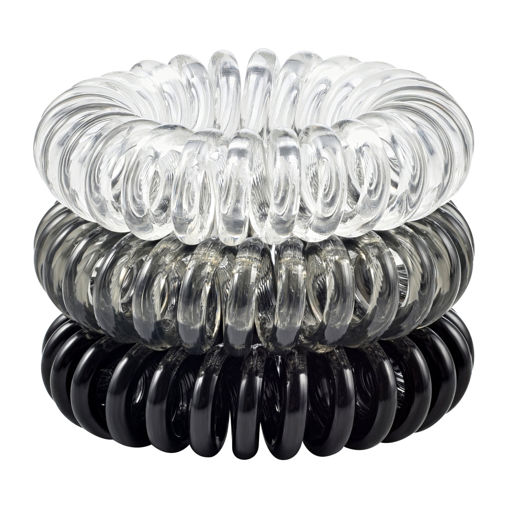 Dark Spiral Hair Ties Stack | My Favorite Hair Tie